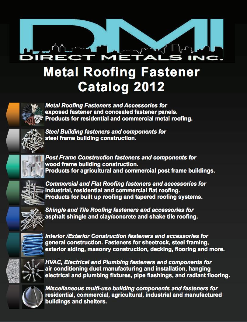 DMI 2012 Metal Roofing Fasteners