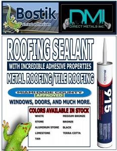 bostic 915 adhesive caulk , commercial grade sealant , commercial grade polyerethane sealant, white sealant, bronze sealant tubes, terracotta sealant , dmi dade county sealant caulking