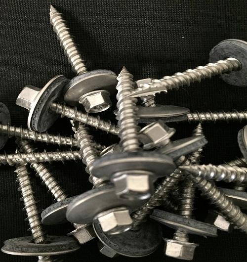 stainless steel metal roofing fasteners, ssc fasteners, direct stainless screws, cheap stainless metal roofing screws, 304 SS post frame screw, stainless steel cap head screws, bi-metal stainless steel screws, #10 stainless screws, #9 SSC screw, woodmac, scots trugrip, evergrip , 410 SS screws, stainless post frame screws,