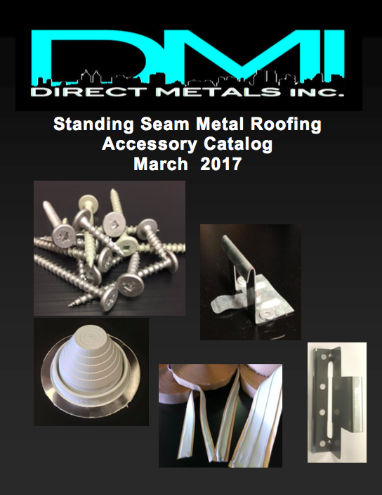 DMI 2017 Standing Seam Metal Roofing Clips and Pancake Head Fasteners