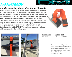 ladder steady drip clip ladder tie off device