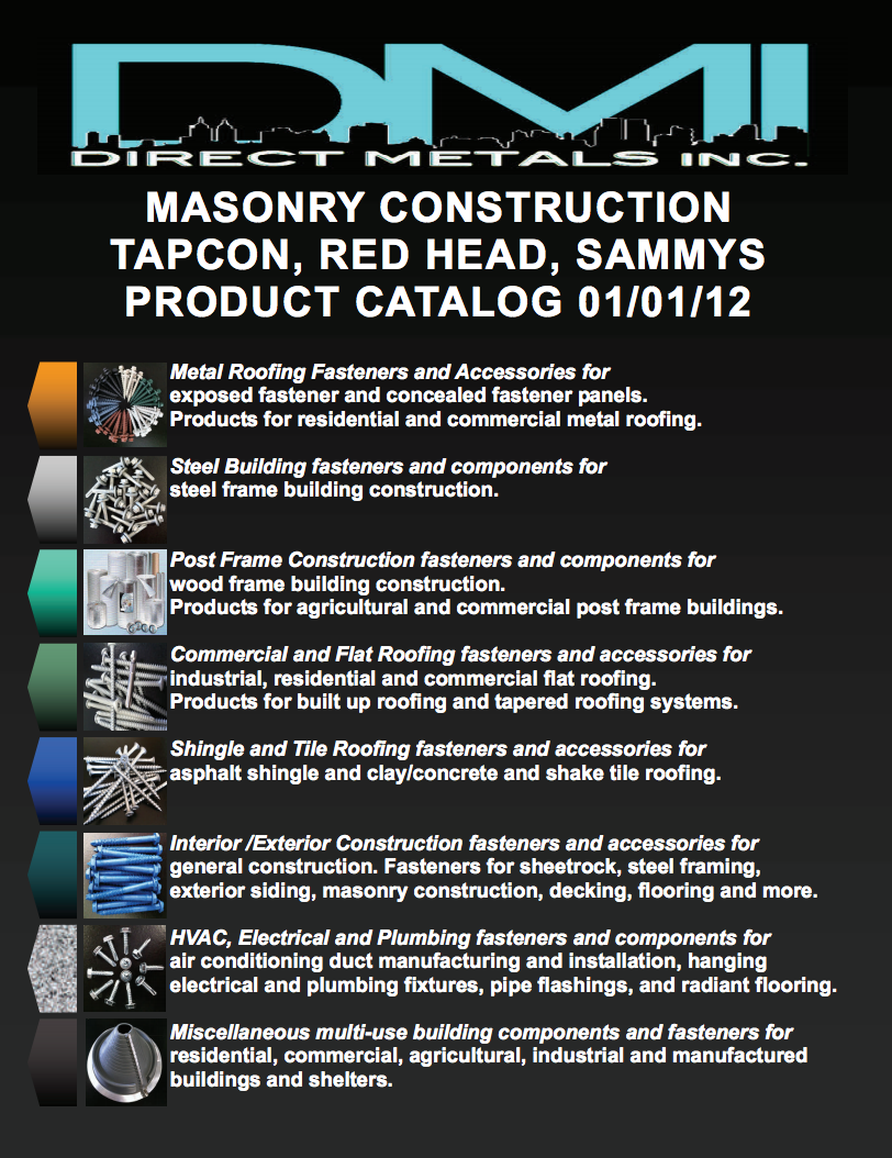 DMI 2012 Masonry Anchors Tapcon SAMMYS' Products and ITW Redhead