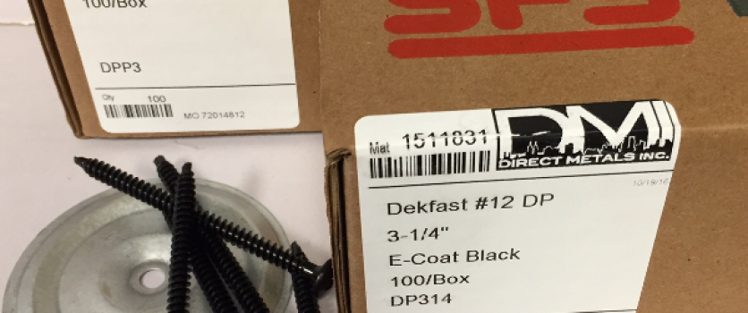 New Product Release, DEKPACK 100/Box  All Purpose Commercial Roofing Fasteners and Plates